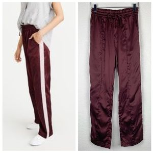 Abercrombie & Fitch Satin Track Pant Velvet Stripe